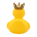 XXL Yellow Rubber Duck with Crown and Personalised Bandana, 25 cm By Lilalu
