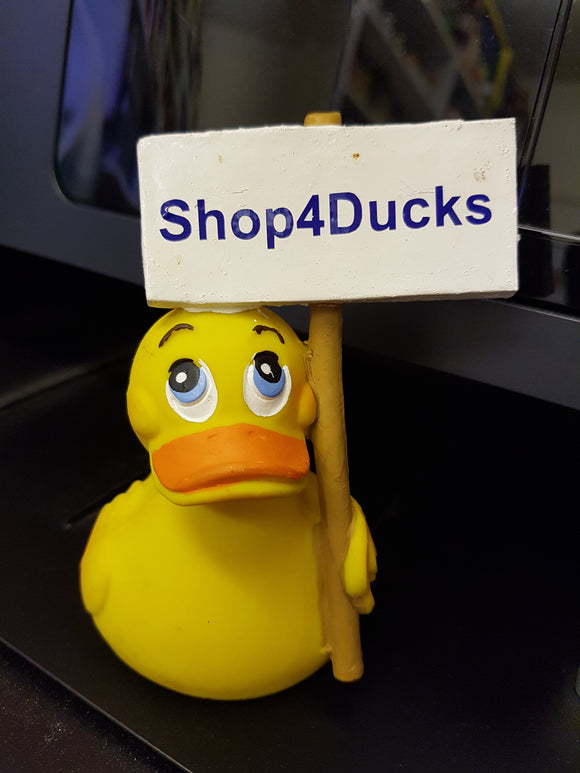 Personalised Latex Rubber Duck with Sign From Lanco Ducks
