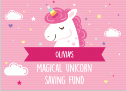 Magical Pink Unicorn - Money Box
