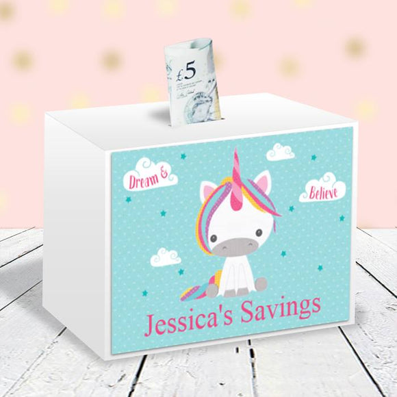 Dream Believe Unicorn - Money Box