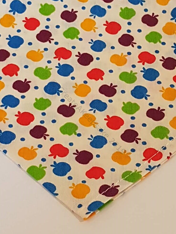 Personalised Pet Bandana - beige bandana with apples pattern