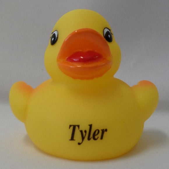 Tyler - Personalised Rubber Duck
