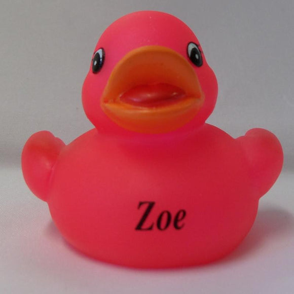 Zoe - Personalised Rubber Duck