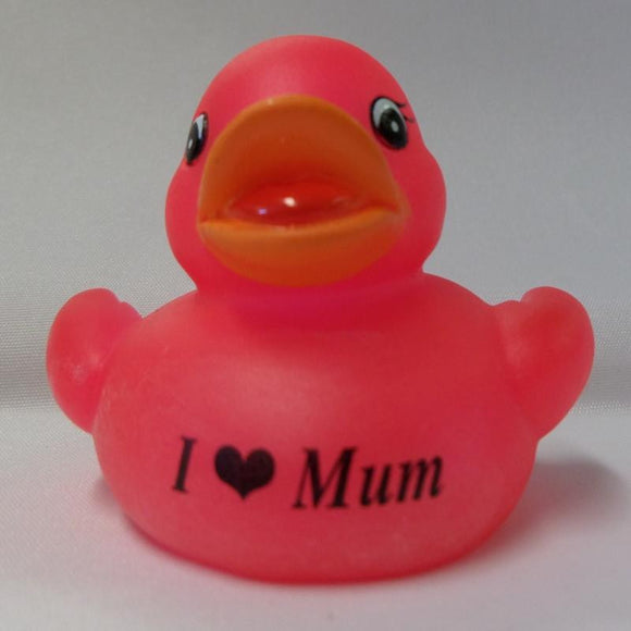 I love Mum - Personalised Rubber Duck