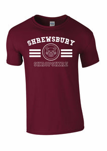 Shrewsbury Tiger T-shirt - Maroon - L