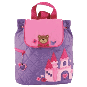 Princess and Bear Styled Children's Quilted Personalised Backpack by Stephen Joseph