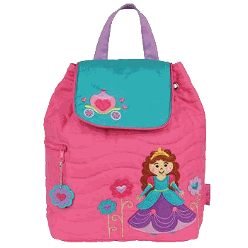 Princess Styled Children's Quilted Personalised Backpack by Stephen Joseph