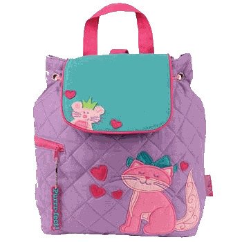 Cat Styled Children's Quilted Personalised Backpack by Stephen Joseph