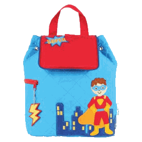 Super Hero Styled Children's Quilted Personalised Backpack by Stephen Joseph