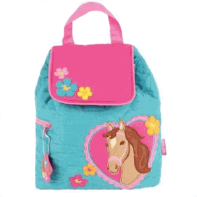 Horse Styled Children's Quilted Personalised Backpack by Stephen Joseph