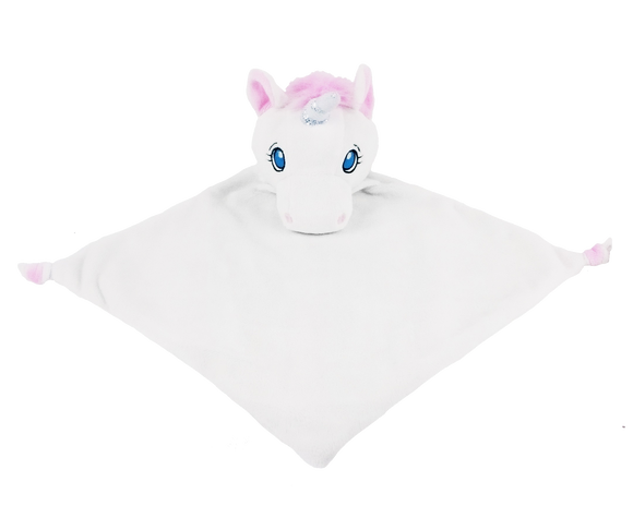 Snuggle Buddy comforter - White Unicorn
