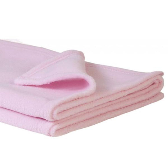 Personalised Soft Fleece Pink Baby Blanket