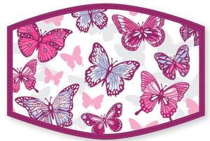 """purple butterflies face protector"""
