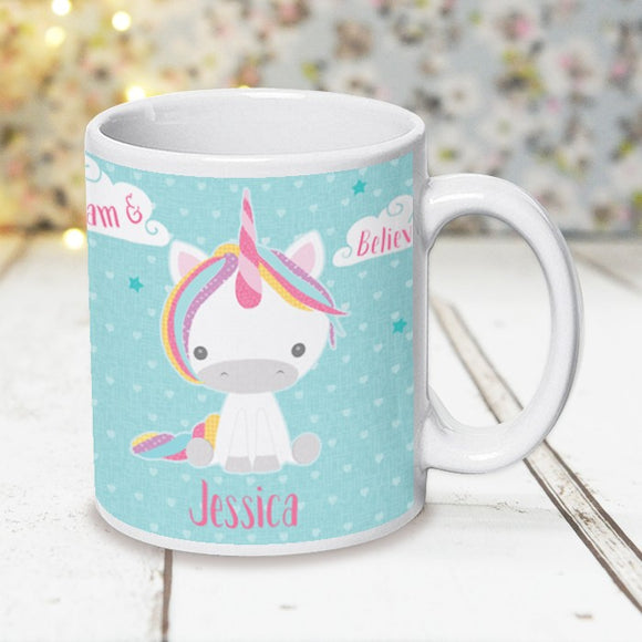 Dream Believe Unicorn - Ceramic Mug