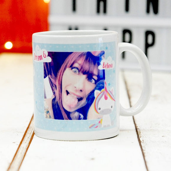 Dream Believe Unicorn - Ceramic Mug with Photo