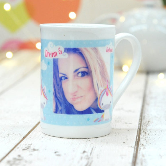 Dream Believe Unicorn - China Mug with Photo