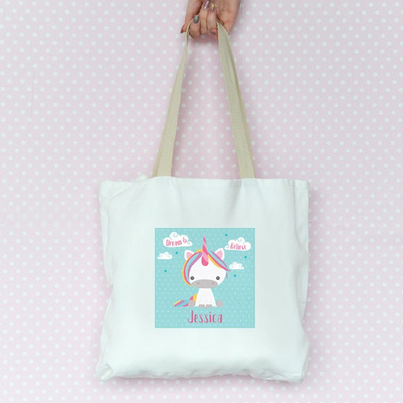 Dream Believe Unicorn - Tote Bag