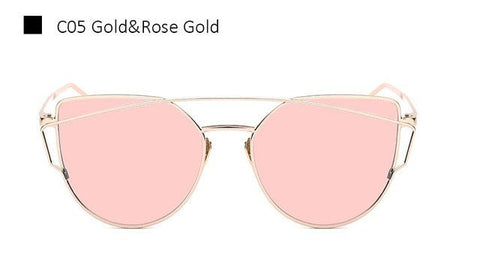 Fashionable Rose Golden Glasses 1