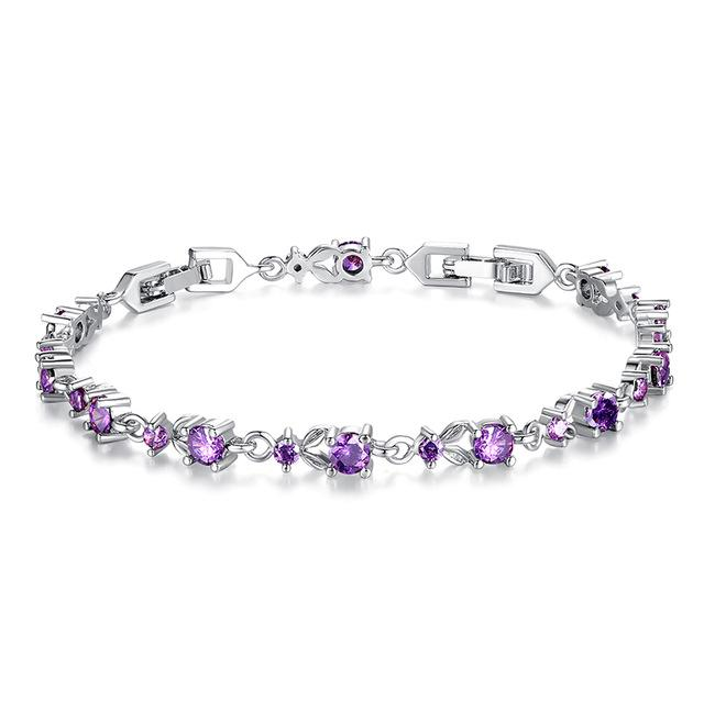 Crystal Shimmers – Chain Bracelet