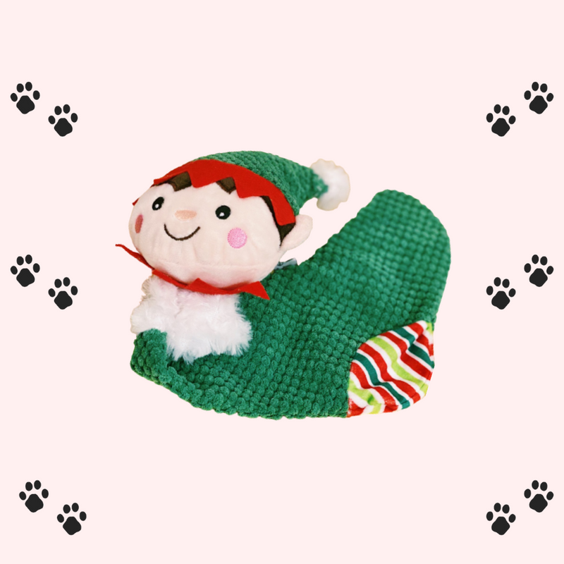Christmas Elf sock-Petsochic