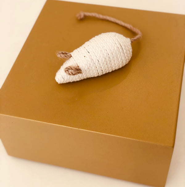 Cat toy - Beige Mouse-Petsochic