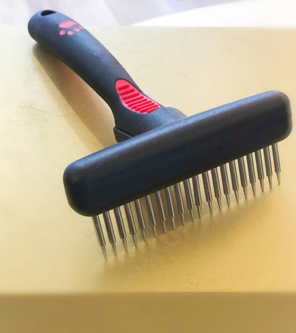 Rake comb - long and rotating teeth-Petsochic