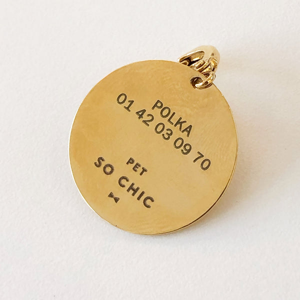 "Golden dog medal - ""Big Love""-Petsochic"