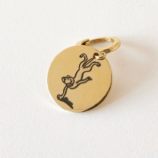 Golden dog medal - The acrobat-Petsochic