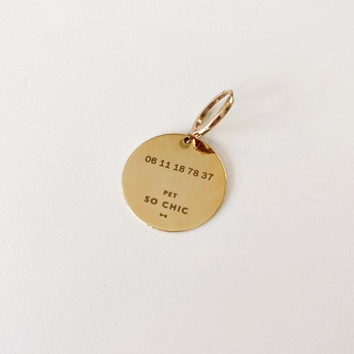 Golden dog medal - The globe-trotter-Petsochic