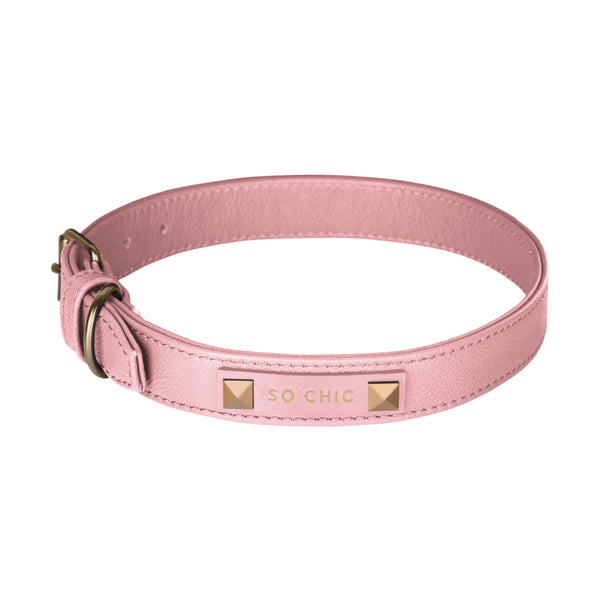 Dog collar - Powder Pink-Petsochic