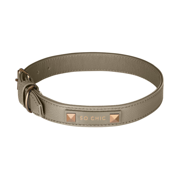 Dog collar - Cognac Brown-Petsochic