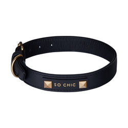 Dog collar - Mystery Black-Petsochic