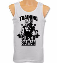 Mens Vest Training To Go Super Saiyan Tank Tops Dragon Ball Z Gym Bodybuilding Goku Tops Tee Shirt Plus Size S-XXL