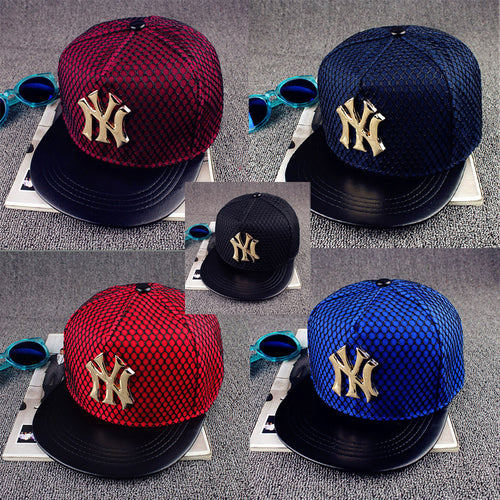 2016 New Adjustable Metal Letters Baseball Cap Men And Women Street Fashion Novelty Hip Hop Caps Bones Gorras Snapback Hats w121