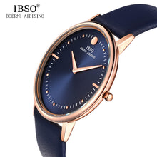 IBSO 2016 7.5MM Ultra-thin Dial Mens Watches Top Brand Luxury Genuine Leather Strap Quartz Watch Men Fashion Relogio Masculino