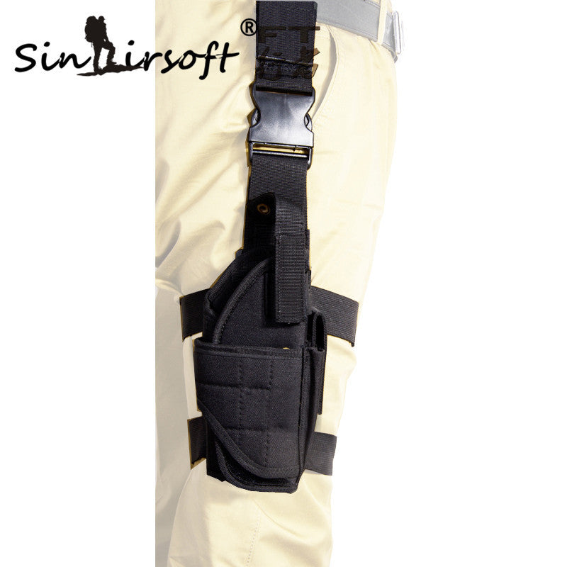 SINAIRSOFT Adjustable Airsoft Holster Hunting Tactical Tornado multiple Pistol Drop Leg Holster For Right Hand Thigh Gun Holster