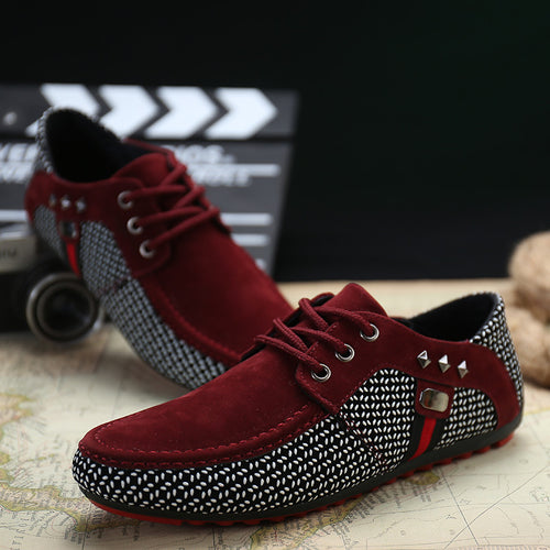 2016 new spring men shoes casual shoes men flats Moccasins lacing flat heel male fashion trend suede shoes men free shipping