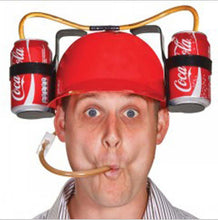 2017 beverage hat drink cap hard hat cola lounged soda helmet Cool Unique Party holiday Game Beer Dual Can Holder Straw whosole