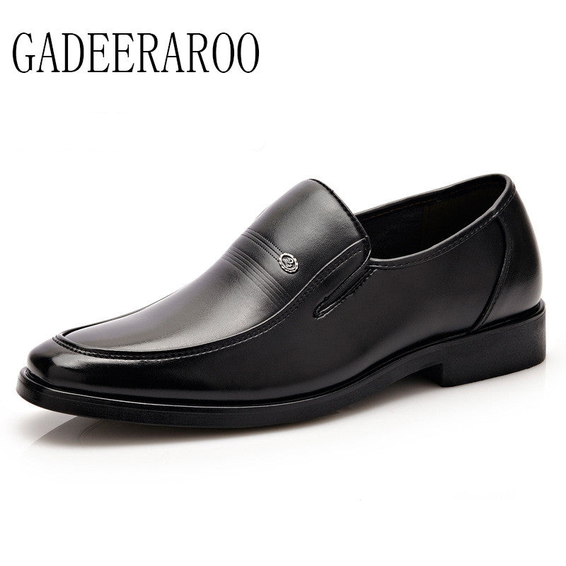 Hot Sale 2016 Fashion Men Dress Shoes Round artificial Leather Men Business Shoes Black/Brown Plus Size Men Office Shoes chaussu