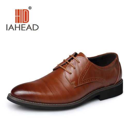 2016 Men Oxford Shoes Flats Genuine Leather Genuine Soft Leather Shoes Men Pointed Toe Business Office Shoes Zapatos MenL50