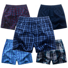 5 Pcs/Lot Mens Underwear Boxers Shorts 100% Cotton Fashion Underwear Sexy Soft Plaid Boxer Male Panties Comfortable Breathable