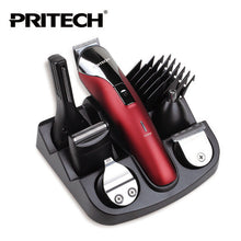 PRITECH  6 IN 1 Rechargeable Hair Trimmer Professional Hair Clipper for Men Electric Shaver Beard Trimmer Hair Cutting Machine