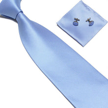 Woven Silk Necktie HandMade Mens Tie Cufflinks and Handkerchief Set Hanky Gift