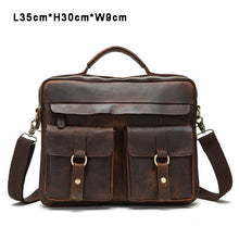 MARRANT Crazy Horse Genuine Leather Bag Casual Men Handbags Men Crossbody Bags Men's Travel Bag Tote Laptop Briefcases men bags