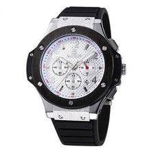 New Men Sport Watch Silicone Gold Top Luxury Brand Watches CHRONOGRAPH & 24 Hours Function Business Watch Relogio