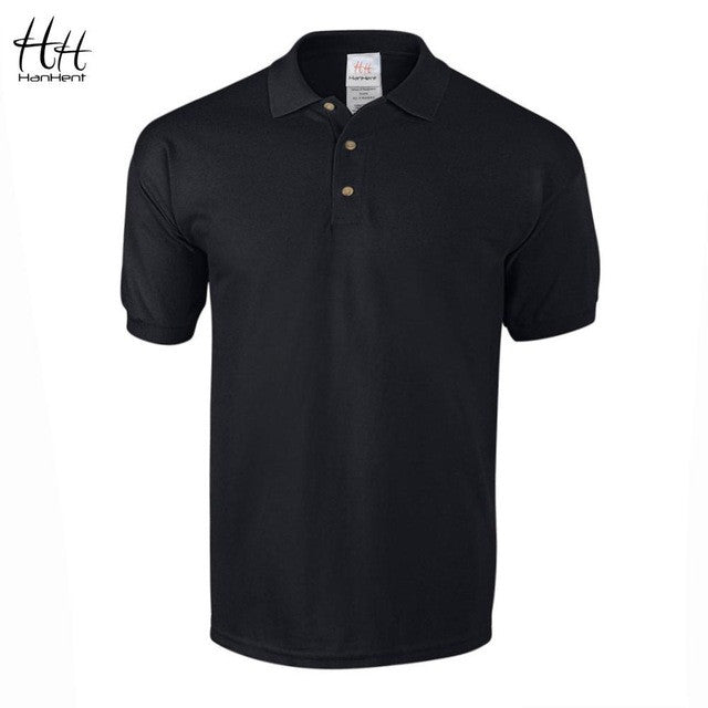 HanHent Business Office Polo Shirt 2016 New Brand Men Clothing Solid Mens Polo Shirts Casual Poloshirt Cotton Breathable