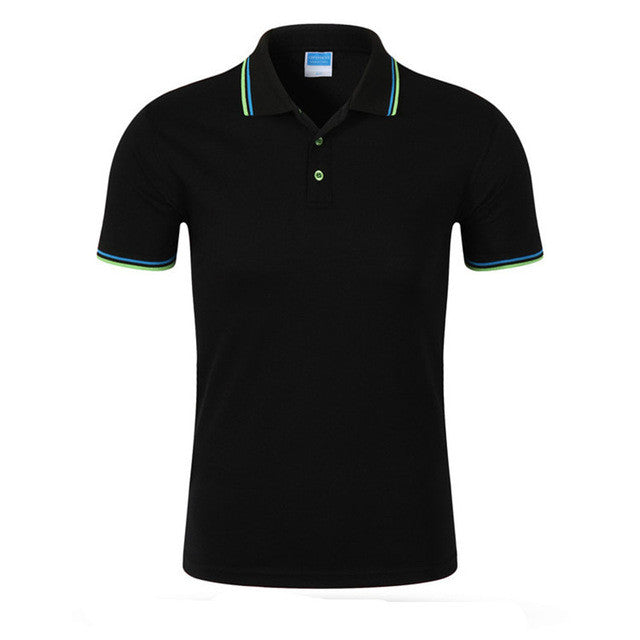 Brand Clothing Mens Polo Shirt Fashion Casual Cotton Short-Sleeve Men's Wide-Waisted Turn-down Collar Tees