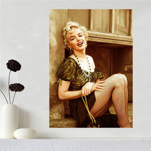 Custom canvas poster Art Marilyn Monroe poster cloth fabric wall poster print Silk Fabric Print SQ0604