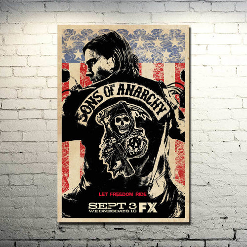 SONS OF ANARCHY Art Silk Poster     Print 13x20 24x36inch Jax Teller TV Series Pictures for Home Wall Decor 011