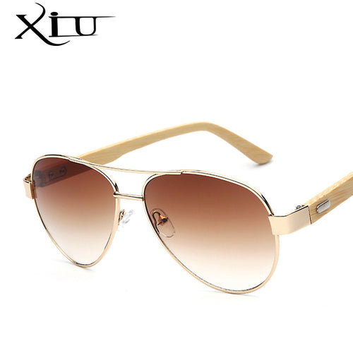 Classic Shades Sunglasses Bamboo Temple Natural Sun glasses Men Women Retro Brand Designer Sunglasses Fahsion Top Quality UV400